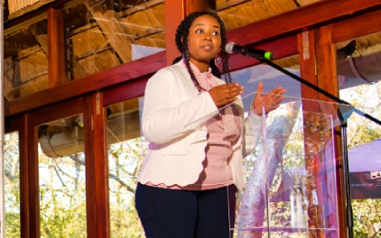 """Dr. Eurika Mogane: """"Online education helps change our perceptions on a number of topics, including health."""""""